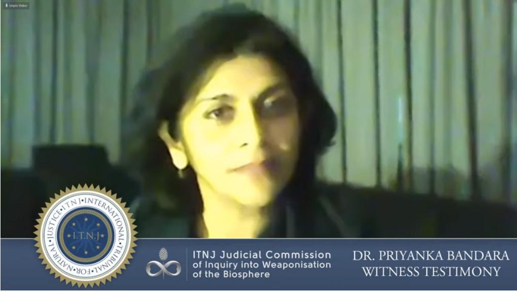 Priyanka Bandara Testifies on the Dangers of Electomagnetic Radiation